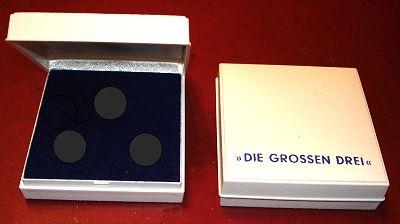 """Sammeletui für Kupferpfennig-Medaillen-Serie """"Die GROSSEN DREI"""""""