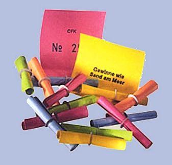 Röllchenlose, Farbe BUNT GEMISCHT , TREFFER NR.3001 - 6000
