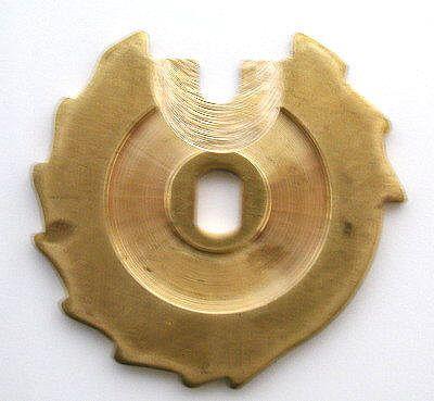 Münzträgerscheibe für 5, 10, 20, 50-Cent, 1-Euro- Einwurf, Messing