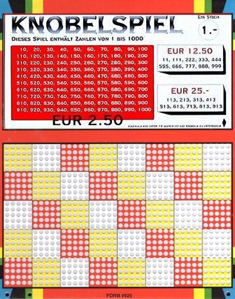 Knobel-Stechspiel 1000 mit Spielplan Nr. 07