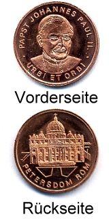 Medaille PAPST IN DEUTSCHLAND (Katholikentag 84)