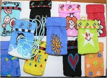 Handy Socke, verschiedene Motive,