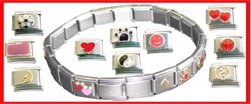 Glieder - Armband, 6 Module (5 blanko, 1 mit Motiv)