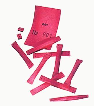 Sicherheitslose GRÖSSE 1, Papier-Farbe ROT,TREFFER NR. 1001 - 2000