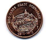 Medaille 600 JAHRE STADT SCHWALBACH