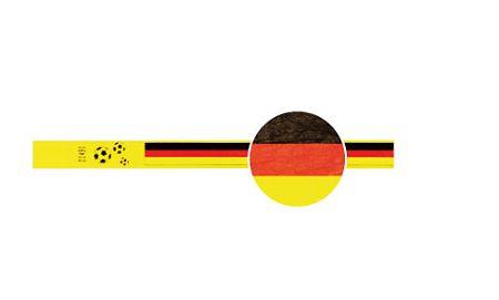 TYSTAR Design FUSSBALL DEUTSCHLAND-FLAGGE, 100 Stück,