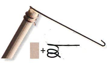 Holzstäbe mit aufsetzbarer Drahtspirale, GRÖSSE 1