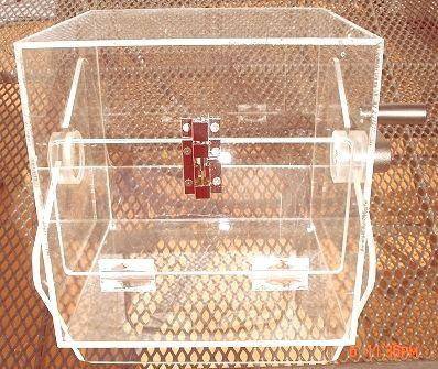 Lostrommel aus Acryl , 4-eckig, 34 x 28 x 27 cm, Inhalt 27 Liter