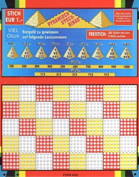 Knobel-Stechspiel 1000 mit Spielplan Nr. 04A