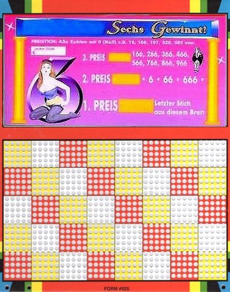 Knobel-Stechspiel 1000 mit Spielplan Nr. 06
