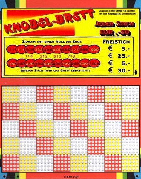 Knobel-Stechspiel 1000 mit Spielplan Nr. 02