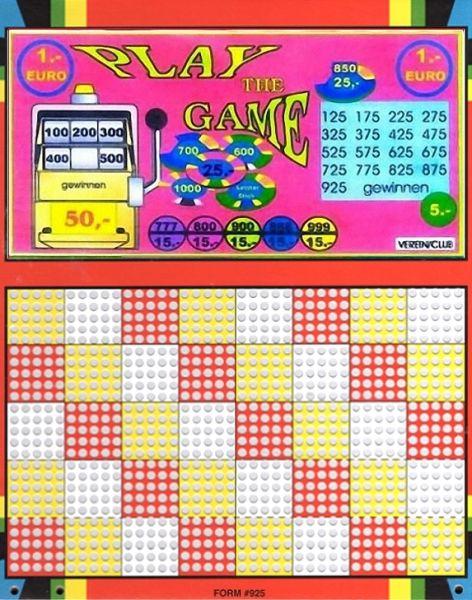 Knobel-Stechspiel 1000 mit Spielplan Nr. 19