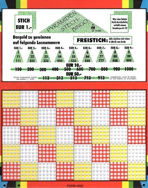 Knobel-Stechspiel 1000 mit Spielplan Nr. 04