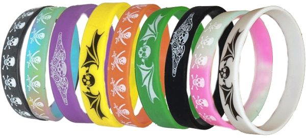 Piraten-Armband aus Silikon in vielen verschiedenen Designs