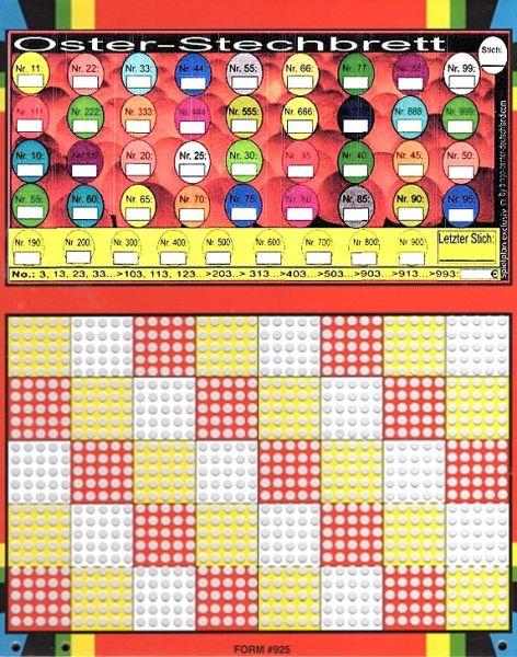 Knobel-Stechspiel 1000 mit Spielplan Nr. 44