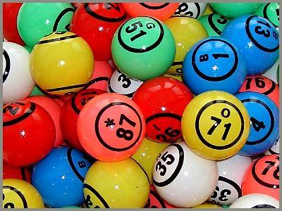 Bingobälle Nummern , 1 - 90 ,1 Set = 5 Farben
