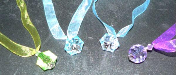 Stoff-Halsband mit Kristall
