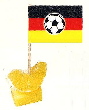 Minifahnen Deutschland mit Ball