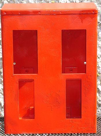 2-Schachtgehäuse für Standardautomaten, ohne Inhalt