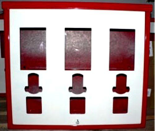 3-Schachtgehäuse für Standardautomaten inkl. Frontplatte