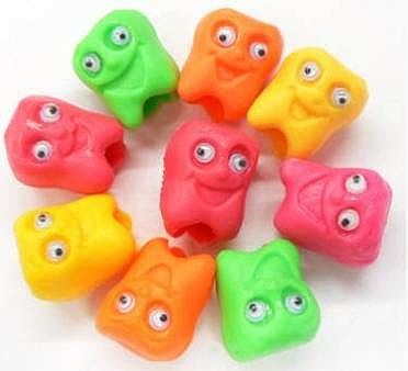 Mini Happy Face, Bleistiftaufsetzer mit Wackelaugen,