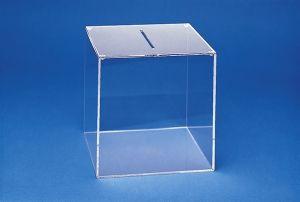 Losbox KLEIN aus Acryl , Ausführung mit oder ohne Schloß