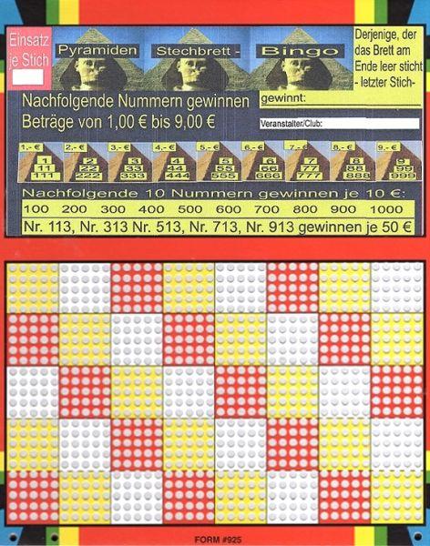 Knobel-Stechspiel 1000 mit Spielplan Nr. 04B