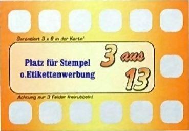 """Rubbelkarte """" 3 aus 13 """", Wecken Sie das Casino-Feeling Ihrer Kunden !"""