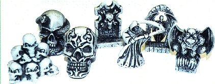 """""""Bone Chillers"""", verschiedene Skelettfiguren,"""