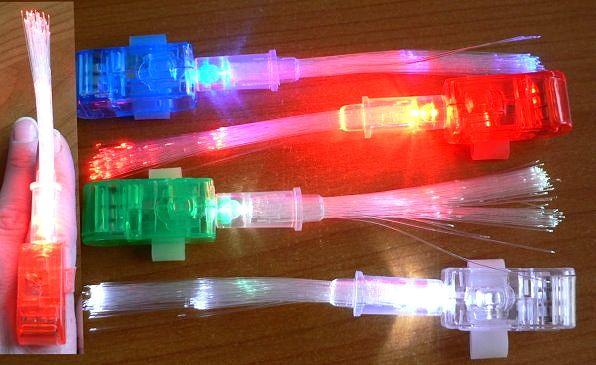 LED Finger-Light, wechselt die Farbe in rot-grün-blau