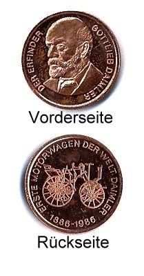 Medaille MOTORWAGEN DAIMLER