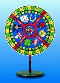 """Glücksrad CASINO """"Tischmodell"""". Scheibe mit Glückssymbolen"""