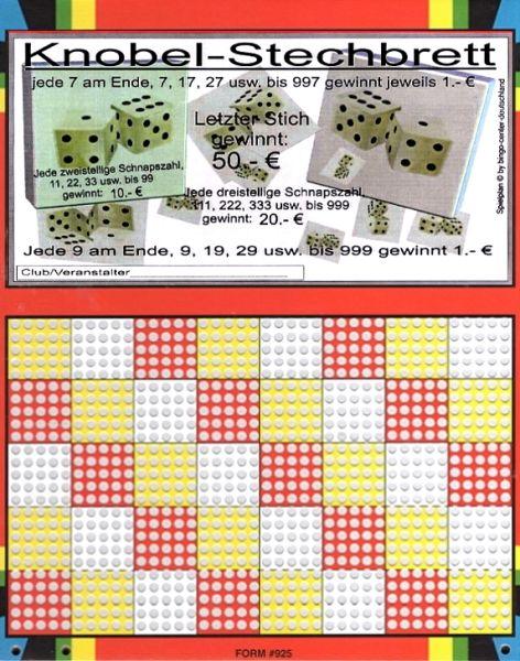 Knobel-Stechspiel 1000 mit Spielplan Nr. 34
