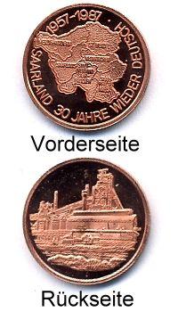 Medaille SAARLAND 30 JAHRE WIEDER DEUTSCH