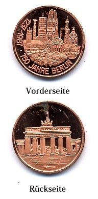 Medaille 750 JAHRE BERLIN