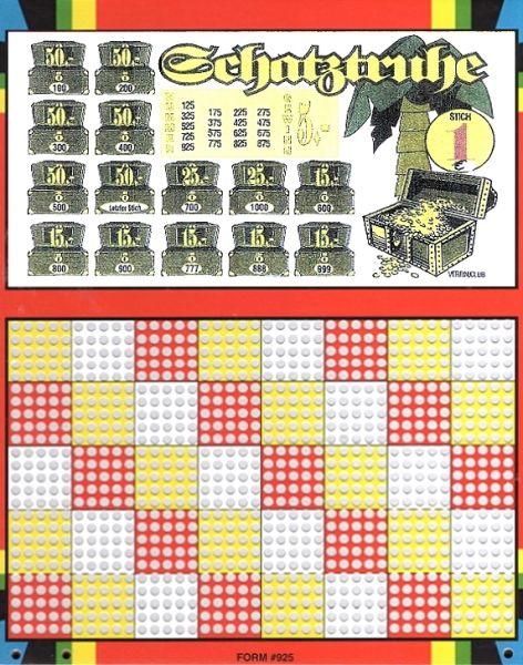 Knobel-Stechspiel 1000 mit Spielplan Nr. 30