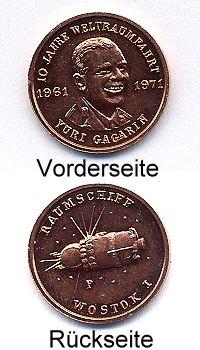 Medaille YURI GAGARIN