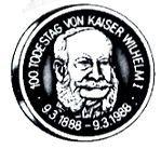 Medaillen BEDEUTENDE JUBILÄEN UND GEDENKTAGE IN DEUTSCHLAND 1988