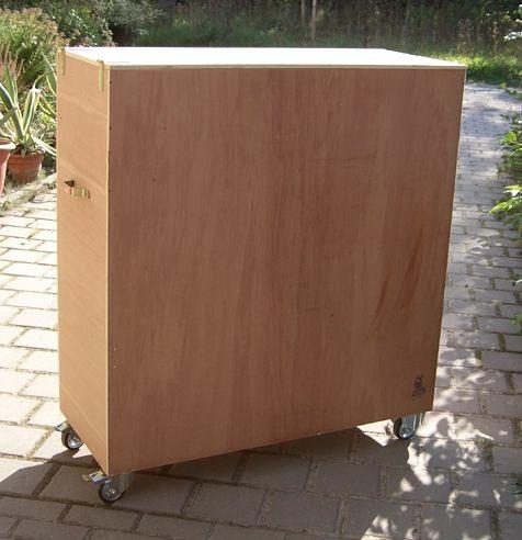 Transportbehälter für Elelktr. Glücksrad und alle Boden -Standräder