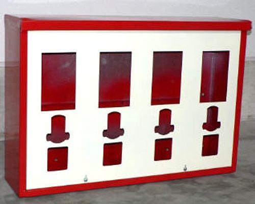 4-Schachtgehäuse für Standardautomaten inkl. Frontplatte