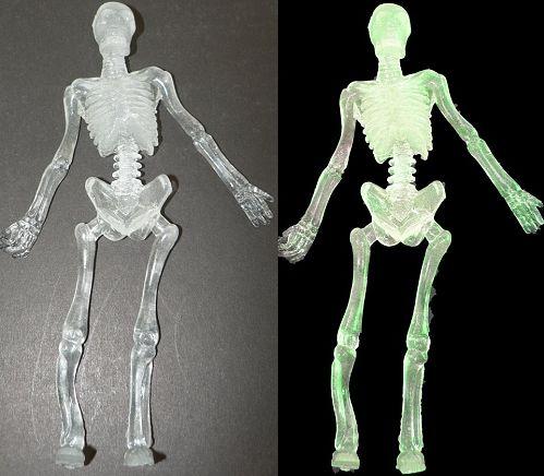 "Stretch Skelett "" glow in the dark"", ca 16 cm"