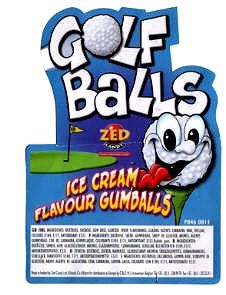 Big Smoothie Golf Balls , 24 mm Kaugummi