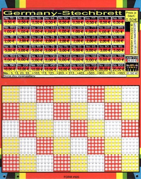 Knobel-Stechspiel 1000 mit Spielplan Nr. 38