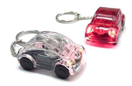 LED Leucht-Auto, verschiedene Farben, transparent