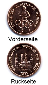 Medaille OLYMPIADE MÜNCHEN