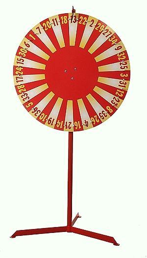 """Glücksrad Design """"Rot / Gelb"""" So lange der Vorrat reicht"""