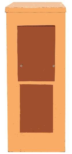 1-Schachtgehäuse GEBRAUCHT, NEU LACKIERT