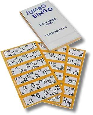 Bingo Spielschein ,in 8 Farben, für Spiel 15 aus 90