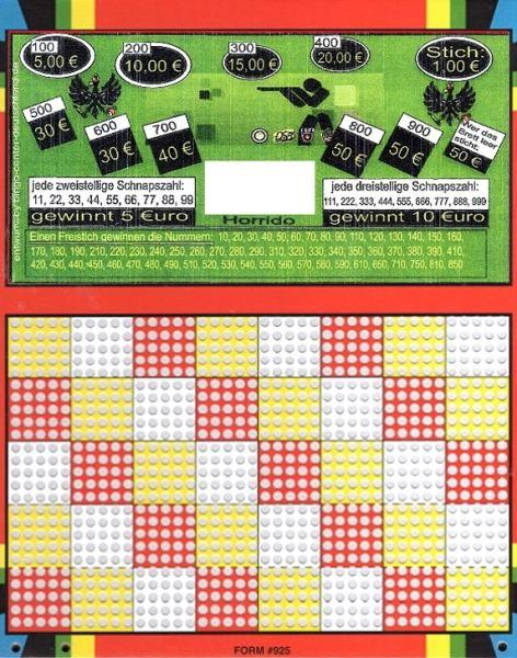 Knobel-Stechspiel 1000 mit Spielplan Nr. 45