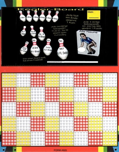 Knobel-Stechspiel 1000 mit Spielplan Nr. 51
